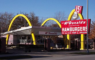 Ray Kroc - Ray Kroc's first (McDonald's ninth) restaurant, which opened April 1955 in Des Plaines, Illinois, USA