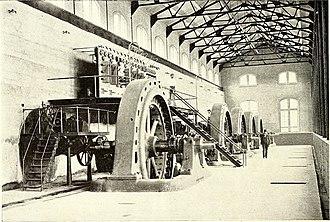 Mechanicville Hydroelectric Plant - Powerhouse of Mechanicville Hydroelectric Plant in 1898.