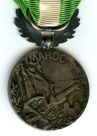 Morocco commemorative medal (1909) - Reverse of the Morocco commemorative medal (1909)