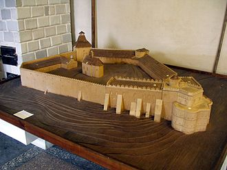 Medzhybizh Fortress - Castle's model at a local museum