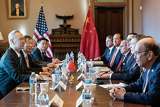 Robert Lighthizer - Lighthizer meets with Chinese Vice Premier Liu He for the trade with China in January 2019
