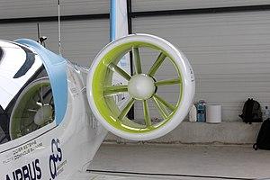 Airbus E-Fan - A ducted fan on the E-Fan