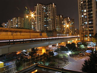 Lai Chi Kok - Mei Foo Sun Chuen housing estate in Lai Chi Kok