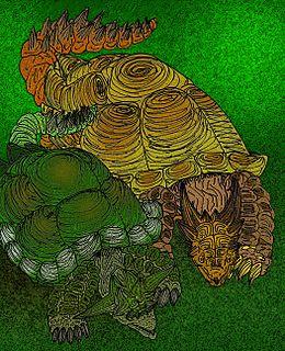 Meiolaniidae family of reptiles
