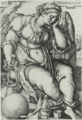 Melencolia, dated 1539, by Hans Beham - National Gallery of Art.PNG