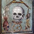 Memento Mori con teschio (vita) appeso a un filo tra la ruota della fortuna, 109982, 02.JPG