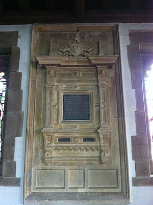Robert Smythson - Memorial to Robert Smythson in St. Leonard's Church, Wollaton