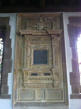 Robert Smythson - Memorial to Robert Smythson in St. Leonard's Church, Wollaton