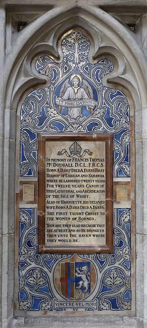 Francis McDougall - Memorial in Winchester Cathedral