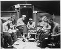 Men at Munsan-ni, Korea, preparing for inspection prior to acting as honor guard at signing of armistice at... - NARA - 520997.tif