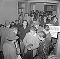 Men waiting to enlist at recruiting headquarters in San Francisco, California, December 1941.jpg