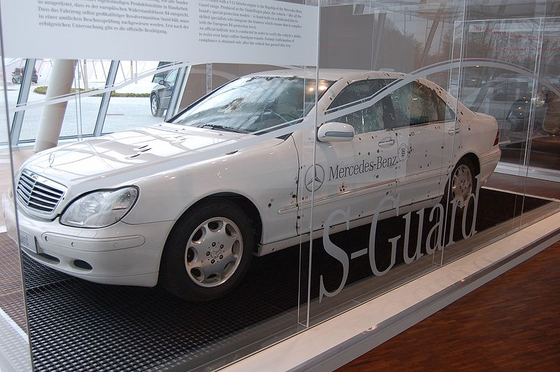 Mercedes Bulletproof Car Ceo