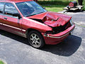 Mercury Tracer, whitetail deer hit damage, July 2008.jpg