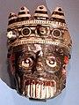 Messico, aztechi, maschera ceramica policroma del dio tlaloc, 1350-1521.jpg