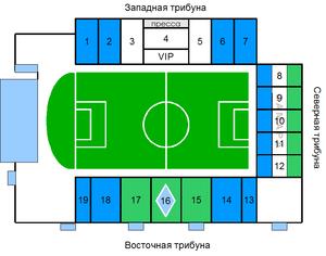 Metallurg Stadium - Plan of the Metallurg Stadium