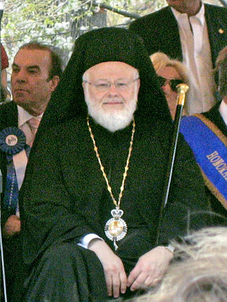 Methodios Tournas - Metropolitan Methodios at Boston's 2009 Greek Independence Day Parade.
