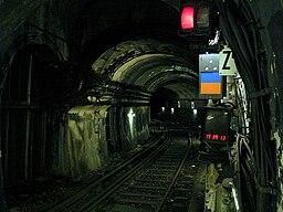 Metro de Paris - Ligne 7bis - Place des Fetes - Tunnel