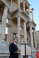 Mexican President visiting the Celsus library in EphesusCelsus library in Ephesus, Turkey.jpg