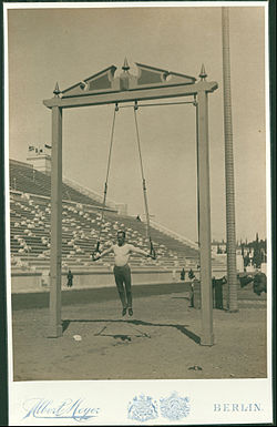 Meyer Albert - Olympic Games, 1896; the athlete Herman Weingartner, third in the rings - Google Art Project.jpg