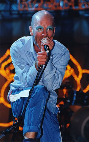 "Michael Stipe - Stipe at Glastonbury Festival with his ""Goblin"" make up"