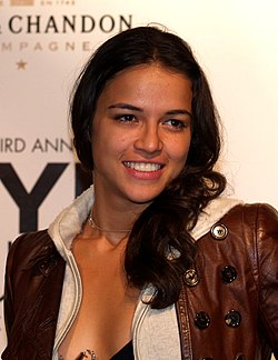 Michelle Rodríguez at the New York Fashion Week Spring 2006.