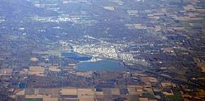 Midland, Michigan with Dow Chemical plant and headquarters.jpg