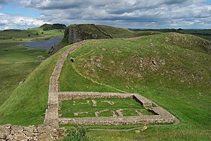 Crag Lough - Image: Milecastle 39 on Hadrian's Wall
