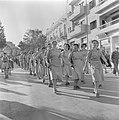 Militaire eenheid vrouwen tijdens de militaire parade in Haifa op 15 mei 1949 b…, Bestanddeelnr 255-0999.jpg