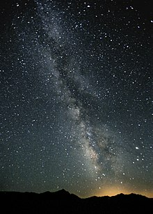 galaxy milky Night sky way