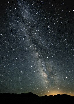 Milky Way Night Sky Black Rock Desert Nevada
