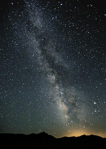 Milky Way Night Sky Black Rock Desert Nevada.