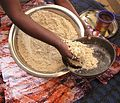 Millet flour. The base for African millet couscous and African millet porridges.jpg