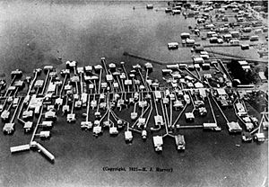 Milneburg - Aerial photograph of a section of Milneburg, 1921