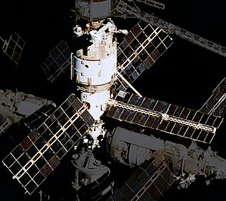 first module of the Soviet/Russian Mir space station