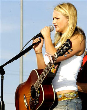 Miranda Lambert - Lambert performing at Laughlin AFB in 2006