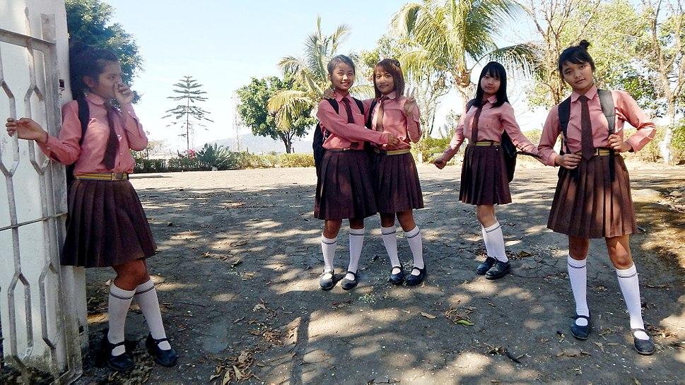 Mizo school girls