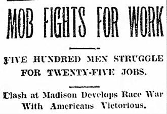 Springfield race riot of 1908 - Edwardsville Intelligencer. Mar 1908.