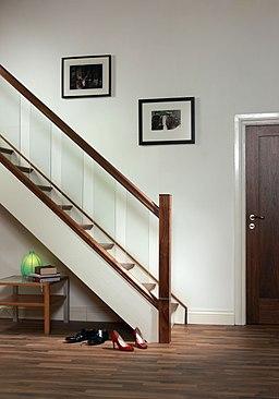 Modern staircase design Urbana collection glass staircase 1
