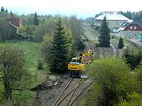 Moldau, Bahnhof-Gleiserneuerung.JPG