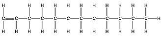 1-Dodecene - Image: Molecular Model of Dodecene 2