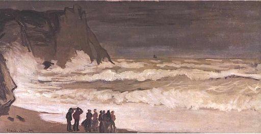 Monet - Stürmisches Meer bei Etretat