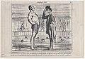 Monsieur, auriez vous la bonté de me dire..., from Croquis d'Été, published in Le Charivari, August 5, 1858 MET DP876723.jpg