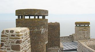 Mont Orgueil - Second World War German look-out posts were designed to fit in with the existing structure of the castle.