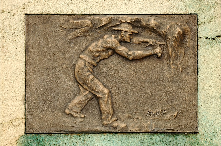 Plak um Monument Émile Mayrisch, zu Diddeleng.