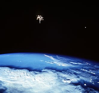 Space station - The Mir station helped pave the way for the ISS project in the 1990s