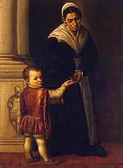 Portrait of a Boy with his Nurse