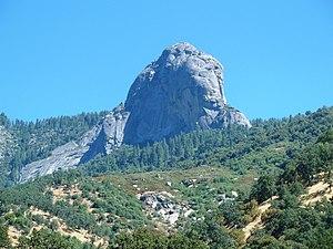 Moro Rock - View of Moro Rock from Potwisha (near Hospital Rock), Sequoia National Park