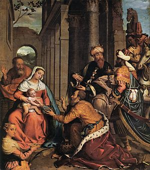 The Adoration of the Magi with Saint Lucy