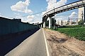 Moscow monorail track approaching Oktyabrskaya railway (20626584003).jpg