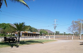 Mount Carbine, Queensland - View from the service station on the eastern side of the Mulligan Highway across to the Mount Carbine hotel on the western side.